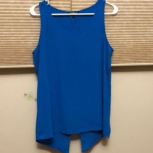 Express | Blue Top with Split Back